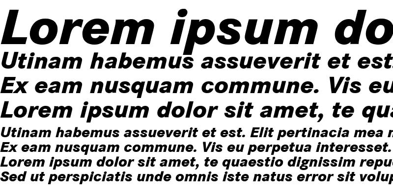 Sample of Corporate S BQ Bold Italic