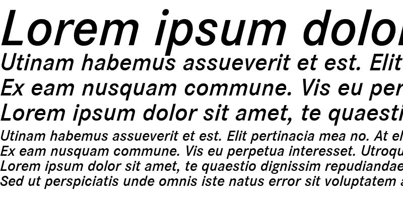 Sample of Corporate S BQ Italic