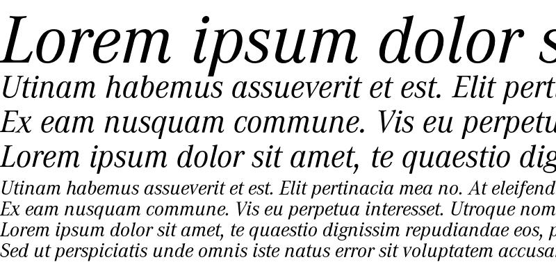 Sample of CorporateA Regular Italic