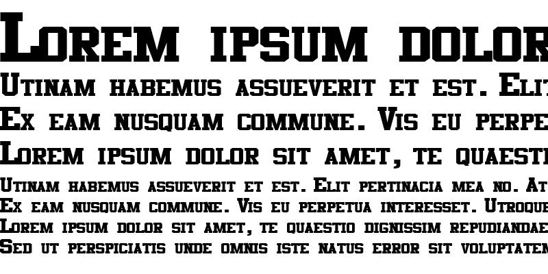 Sample of CosmicFlushText8 ttext Regular
