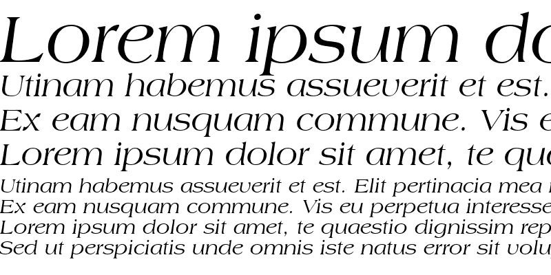 Sample of Countryside SSi Italic
