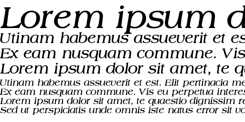 Sample of CountrysideSSK Bold Italic