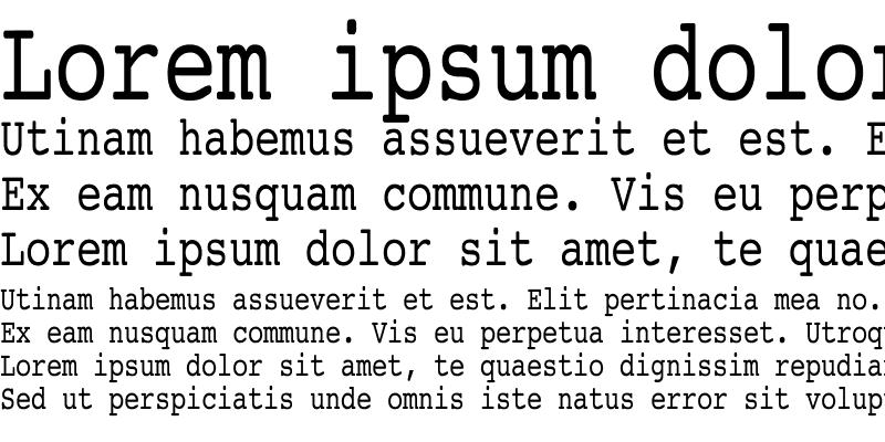 Sample of Courier Condensed Regular