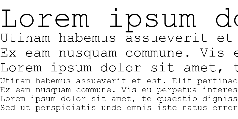 Sample of Courier New Greek