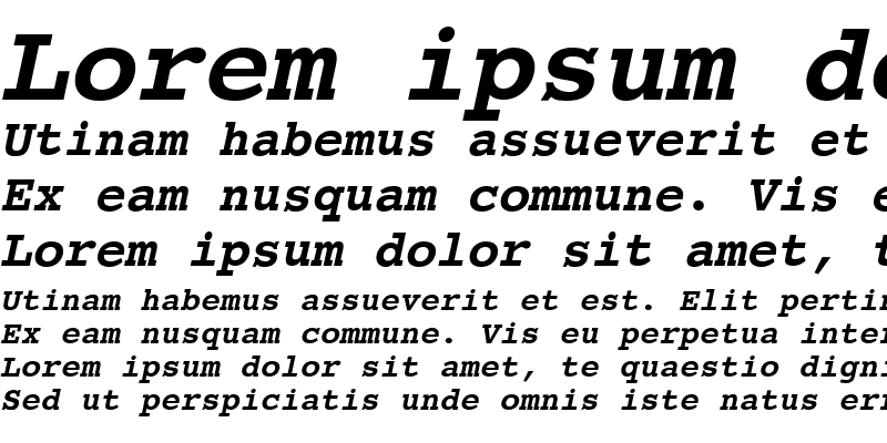 Sample of CourierET Bold Oblique