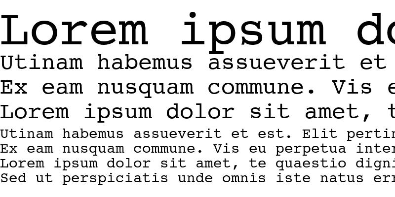 Sample of CourierET Regular