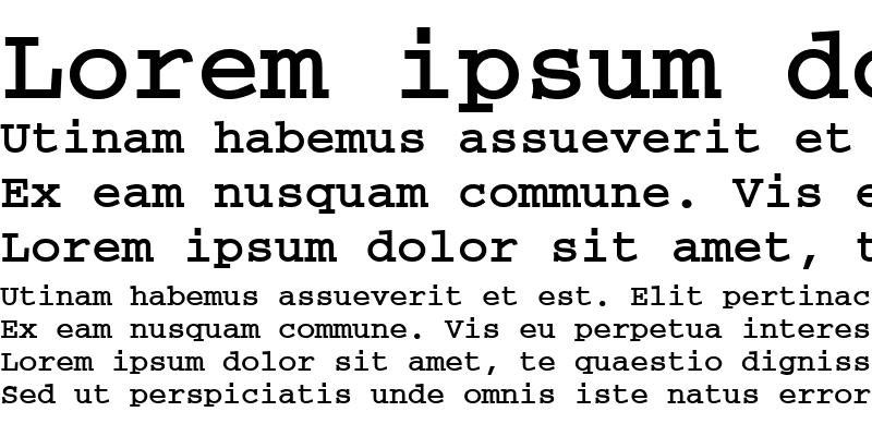 Sample of CourierISOCTT Bold