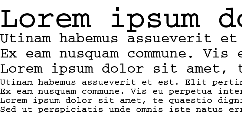 Sample of CourierMEE Bold