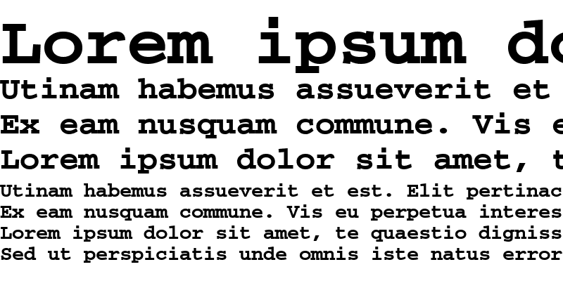 Sample of CourierPS Bold