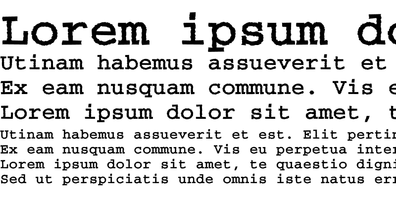 Sample of CourierRoughC Bold
