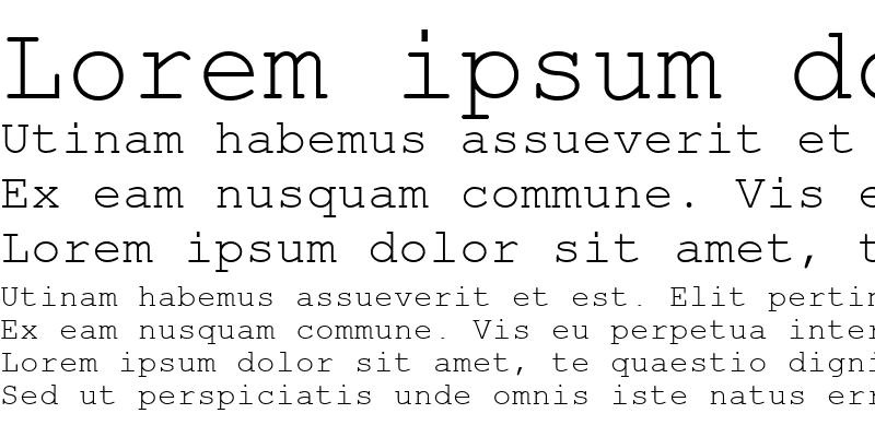 Sample of CourierSH Regular