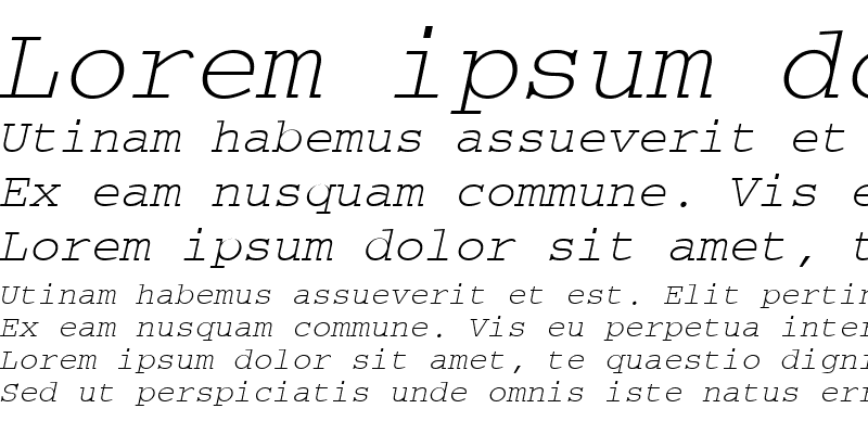 Sample of CourierTM Italic
