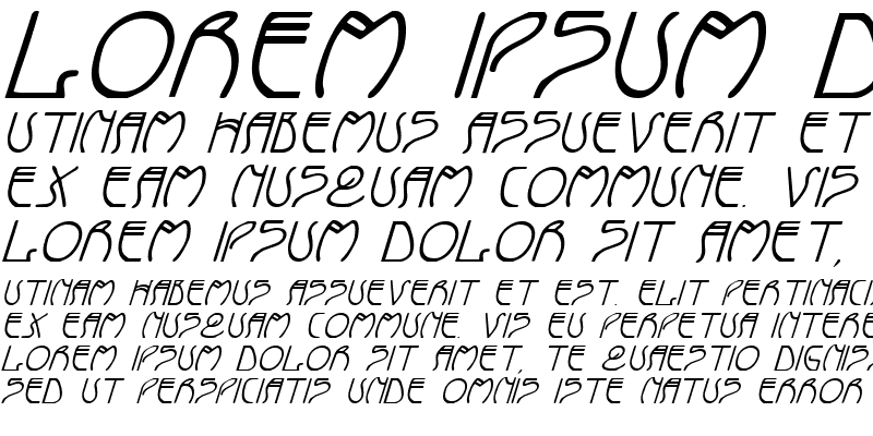 Sample of Coyote Deco Italic