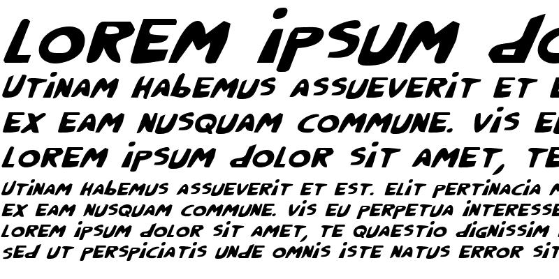 Sample of Crappity-Crap-Crap Italic Italic