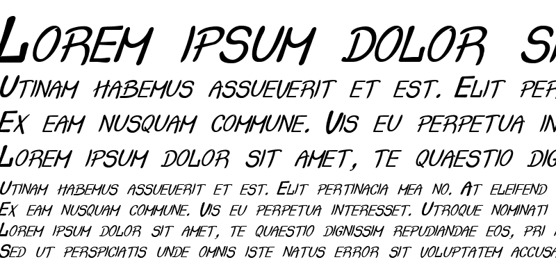 Sample of Crash  Italic