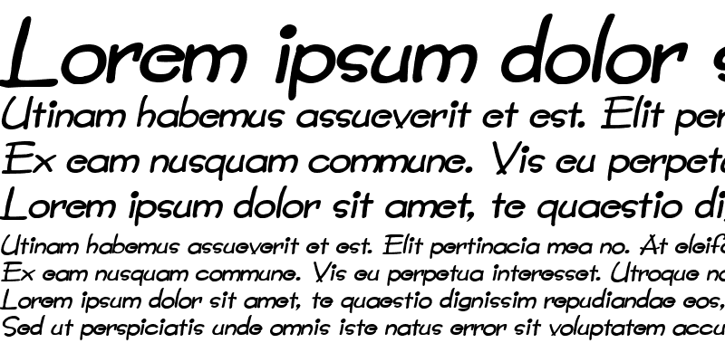 Sample of Crayon-Extended Italic