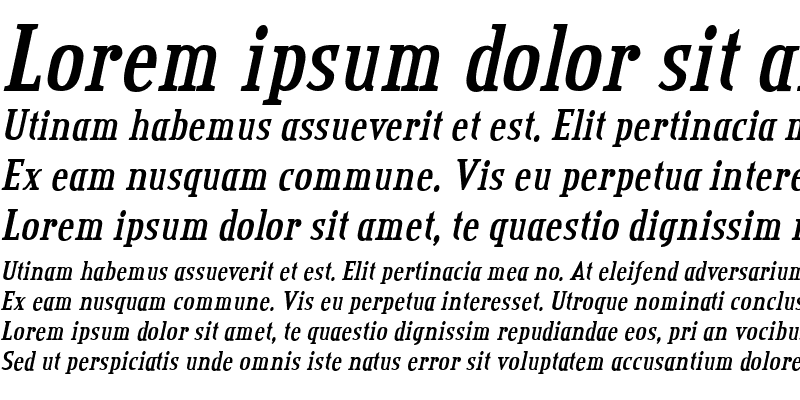 Sample of Credit Valley Bold Italic