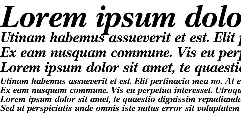 Sample of Cremona Bold Italic