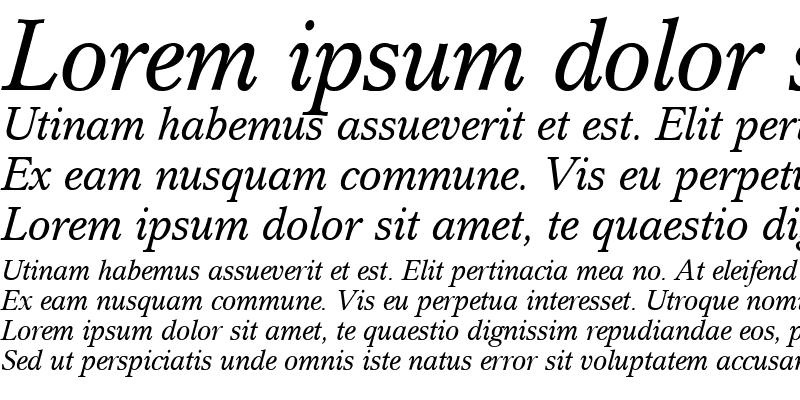 Sample of Cremona BQ Italic
