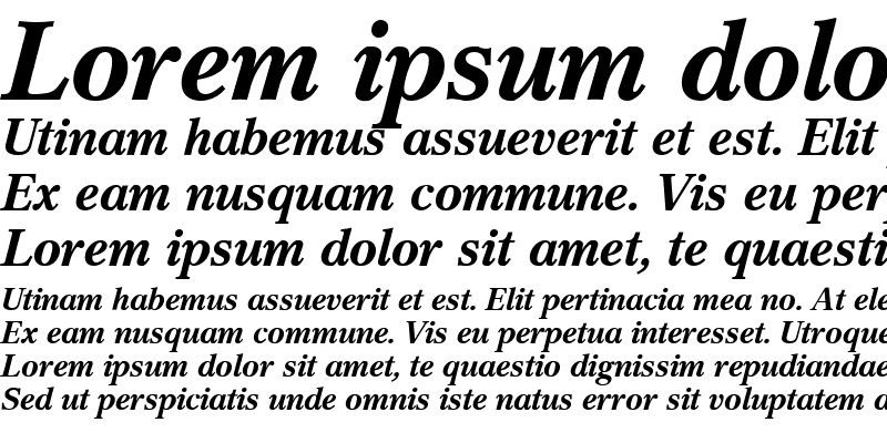 Sample of Cremona Expert BQ Bold Italic