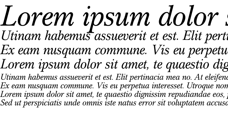 Sample of Cremona Italic