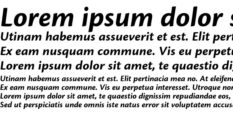 Sample of Cronos Pro Bold Caption Italic