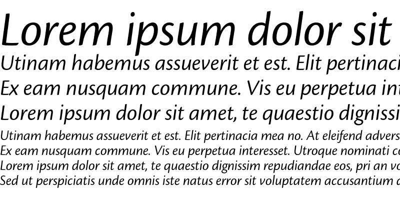 Sample of Cronos Pro Display Italic