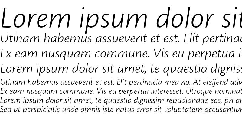 Sample of Cronos Pro Light Caption Italic