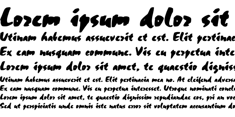 Sample of CSD-Chalk-Normal Bold