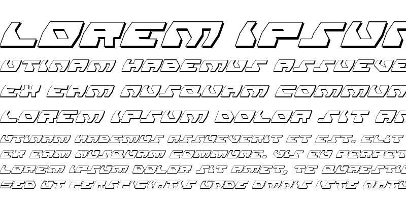 Sample of Daedalus Shadow Italic