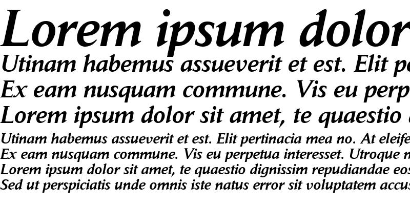 Sample of Daily News BQ Italic