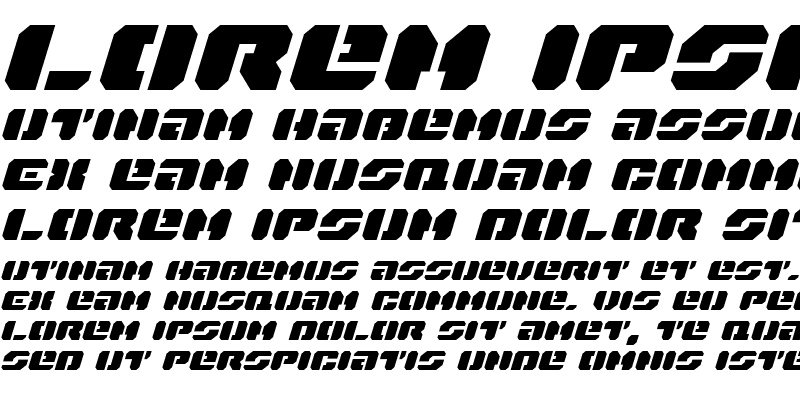 Sample of Dan Stargate Expanded Italic