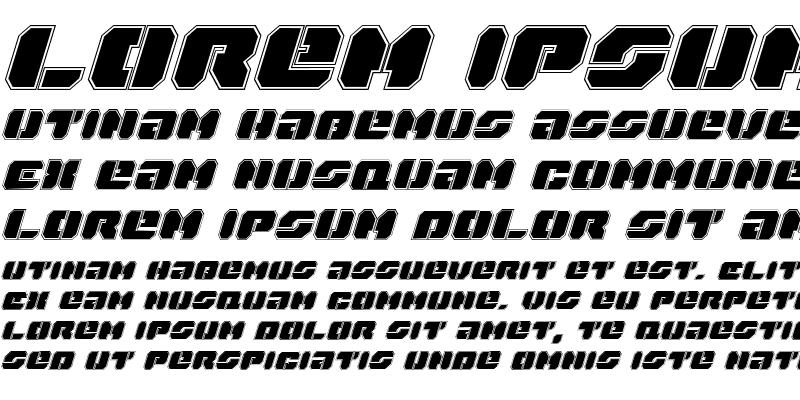 Sample of Dan Stargate Pro Italic