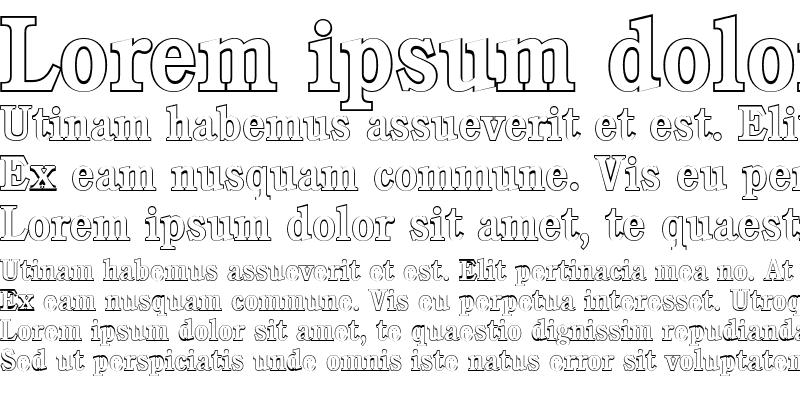 Sample of DanielBeckerOutline-Medium Regular