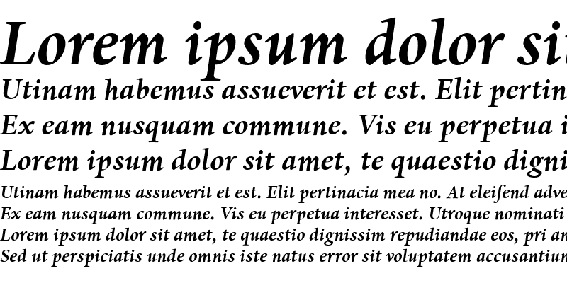 Sample of Dante Bold Italic