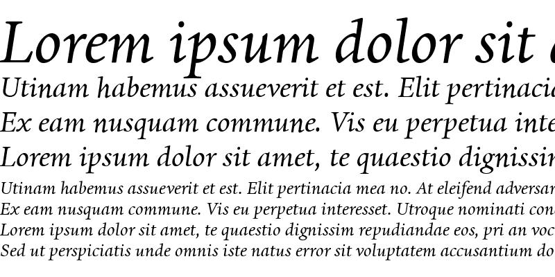 Sample of Dante Medium Italic