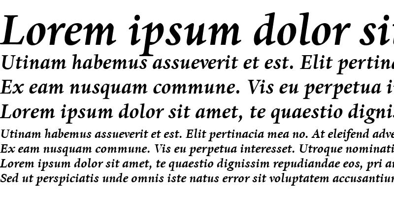 Sample of DanteMT BoldItalic