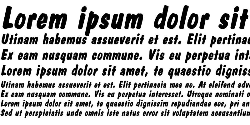 Sample of Danto BoldItalic