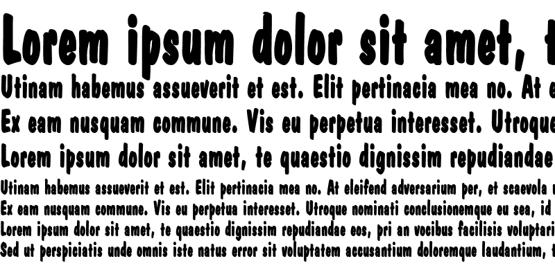 Sample of DapperThin Bold