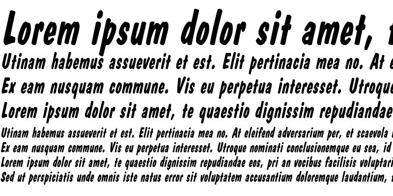 Sample of DapperThin Italic