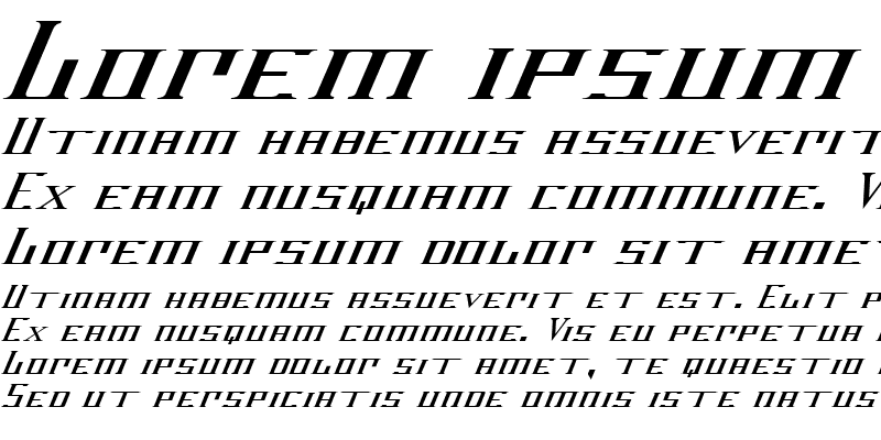 Sample of DarkWind Italic