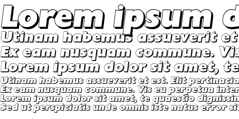 Sample of DavidBeckerShadow-Heavy Italic