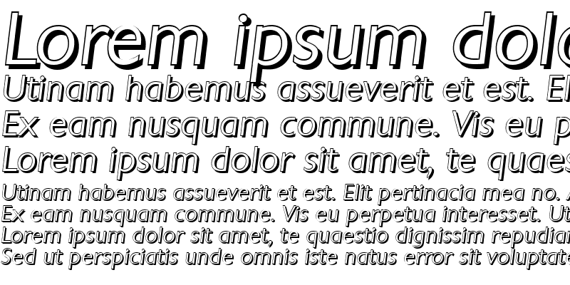 Sample of DavidBeckerShadow-Light Italic