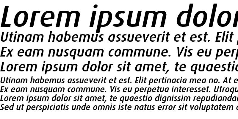 Sample of Dax-MediumItalic