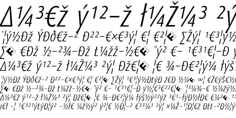 Sample of DaxCondensed-LightItalicExp