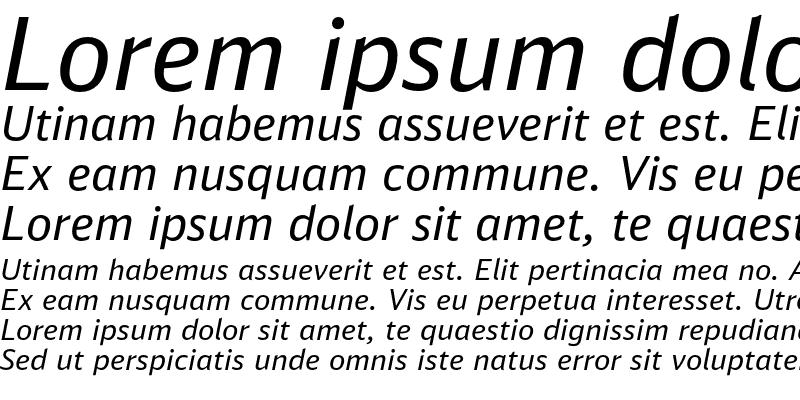 Sample of DB Sans Alternate