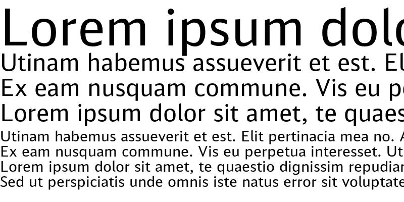 Sample of DB Sans Alternate Regular