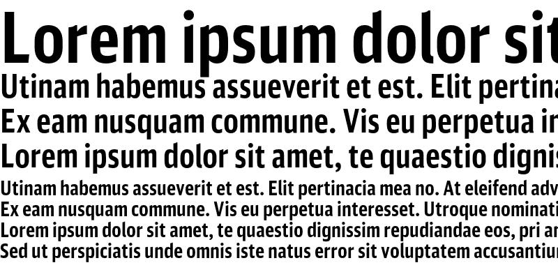 Sample of DB Sans Comp Altern Bold