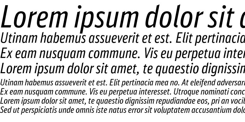 Sample of DB Sans Comp Altern Regular Italic
