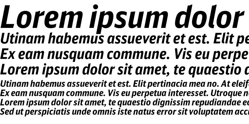 Sample of DB Sans Cond Altern Bold Italic